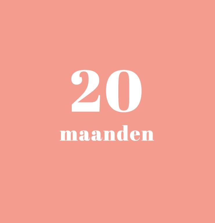 babykalender - 20 maanden