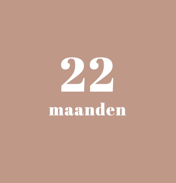 babykalender - 22 maanden
