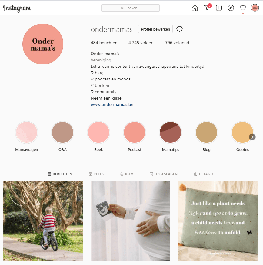 Onder mama's instagram pagina partnership adverteren mama platform